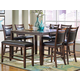 Coaster Dupree 8-Piece Counter Height Dining Room Set in Dark Brown