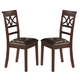 Coaster Dunham Dining Side Chair in Brown Red 100642