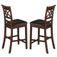 Coaster Dunham Counter Height Stool in Brown Red 100649