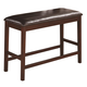 Coaster Dunham Counter Height Bench in Brown Red 100647