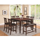 Coaster Dunham 8-Piece Counter Height Dining Room Set in Brown Red