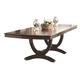Coaster Alyssa Trestle Dining Table in Dark Cognac 105441