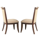 Coaster Alyssa Upholstered Back Side Chair in Dark Cognac (Set of 2) 105442