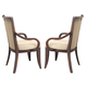 Coaster Alyssa Upholstered Back Arm Chair in Dark Cognac (Set of 2) 105443