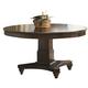 Coaster Alyssa Pedestal Dining Table in Dark Cognac 105440