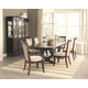 Coaster Alyssa 7-Piece Trestle Dining Room Set in Dark Cognac