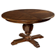 Hekman Vintage European Round Dining Table in Vintage Brown 2-3221