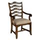 Hekman Vintage European Ladder Back Arm Chair in Vintage Brown (Set of 2)
