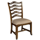 Hekman Vintage European Ladder Back Side Chair in Vintage Brown (Set of 2)