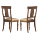 Coaster Jonas Dining Table in Cocoa Brown Hand Painted 104721