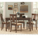 Coaster Jonas 5-Piece Dining Room Set in Cocoa Brown Hand Painted