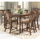 Coaster Jonas 7-Piece Counter Height Dining Room Set in Cocoa Brown Hand Painted