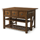 Klaussner Southern Pines 3 Drawer Loblolly Kitchen Island in Pine Ridge 436-885