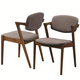 Coaster Malone Mid-century Side Chair in Dark Walnut (Set of 2) 105352