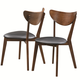 Coaster Malone Mid-century Modern Side Chair in Dark Walnut (Set of 2) 105362