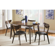 Coaster Malone Mid-century 6-Piece Modern Dining Room Set in Dark Walnut