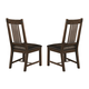Coaster Padima Side Chair in Rustic Cognac (Set of 2) 105702