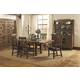 Coaster Padima 7-Piece Dining Room Set in Rustic Cognac