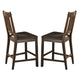 Coaster Padima Counter Height Chair in Rustic Cognac (Set of 2) 105709