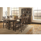 Coaster Padima 7-Piece Counter Height Dining Room Set in Rustic Cognac