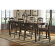 Coaster Mulligan 7-Piece Counter Height  Dining Room Set in Latte and Espresso