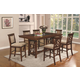 Coaster Pembrook 7-Piece Counter Height Dining Room Set in Walnut