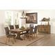 Coaster Salerno 7-Piece Dining Room Set in Weathered Wood