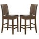 Coaster Salerno Counter Height  Chair in Weathered Wood (Set of 2) 105569