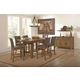 Coaster Salerno 7-Piece Counter Height Dining Room Set in Weathered Wood
