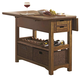 Coaster Salerno Counter Height Kitchen Island in Weathered Wood 105567