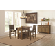 Coaster Salerno 5-Piece Counter Height Kitchen Island Set in Weathered Wood