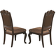 Coaster Valentina Side Chair in Brownish Red Wood (Set of 2) 105382