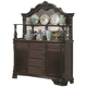 Coaster Valentina Buffet and Hutch in Brownish Red Wood 105384