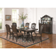 Coaster Valentina 7-Piece Dining Room Set in Brownish Red Wood