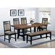 Coaster Waller 7-Piece Dining Room Set in Rustic Brown