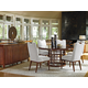 Tommy Bahama Home Island Fusion 7-Piece Meridien Round Dining Room Set in Dark Walnut