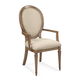 Bassett Mirror Belgian Modern Esmond Arm Chair in Rustic Pine (Set of 2) DACH42-813