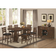 Coaster Urbana/Campbell 8-Piece Counter Height Dining Room Set in Vintage Cinnamon