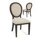 Bassett Mirror Belgian Modern Cornelia Side Chair in Coffee Bean (Set of 2) DPCH42-S749