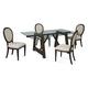 Bassett Mirror Belgian Modern 5-Piece Ellsworth Rectangular Dining Set in Coffee Bean