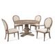 Bassett Mirror Belgian Modern 5-Piece Kinzie Round Dining Set in Rustic Pine