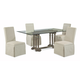 Bassett Mirror Belgian Modern 5-Piece Pemberton Rectangular Dining Set in Barnside