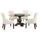 Bassett Mirror Belgian Modern 5-Piece Hampton Round Dining Set in Espresso