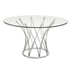 Bassett Mirror Thoroughly Modern Mercer Round Dining Table in Chrome 2874-700-070