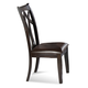Bassett Mirror Thoroughly Modern Elation Wood Back Side Chair in Espresso D1078-S800 (Set of 2)