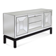 Bassett Mirror Thoroughly Modern Taney Buffet in Cappuccino and Mirror 2992-576