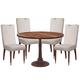 Bassett Mirror Thoroughly Modern 5-Piece Courtlandt Round Dining Set in Brown