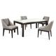 Bassett Mirror Thoroughly Modern 7-Piece Taney Rectangular Dining Set in Cappuccino