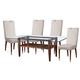 Bassett Mirror Thoroughly Modern 5-Piece Dunhill Oak Parquet Dining Set in Cappuccino