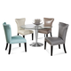 Bassett Mirror Thoroughly Modern 5-Piece Concorde Round Dining Set in Polished Chrome